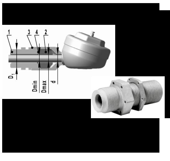 Комплект монтажных частей для взрывозащищенных датчиков