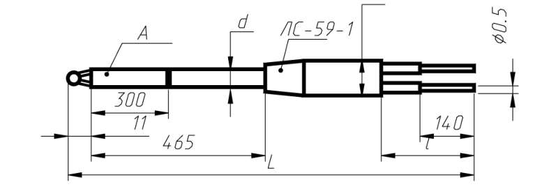 Преобразователи термоэлетрические платинородиевые ПРО