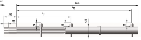 Многозонные термоэлектрические преобразователи ТХА 9517, ТХК 9517