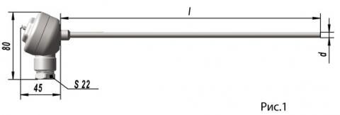 Термопреобразователь сопротивления платиновые ТСП 0303