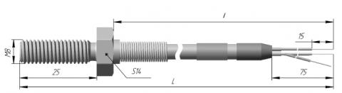 Термопреобразователь сопротивления платиновые и медные ТСП 0906, ТСМ 0906