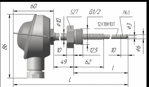Термопреобразователь сопротивления платиновые ТСП 0907 и медные ТСМ 0907
