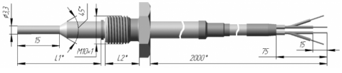 Термопреобразователь сопротивления платиновый ТСП 0910