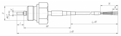 Термопреобразователь сопротивления платиновый ТСП 0914
