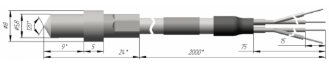 Термопреобразователь сопротивления платиновый ТСП 0916