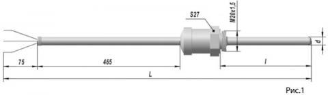Термопреобразователь сопротивления платиновые ТСП 9203 и медные ТСМ 9203