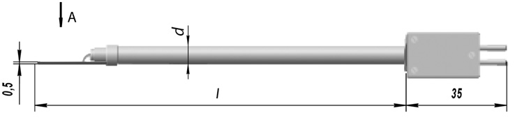 Поверхностные термоэлектрические преобразователи ТХА 0001, ТХК 0001