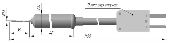 Игольчатый преобразователь термоэлектрический ТХА, ТХК, ТЖК 0919