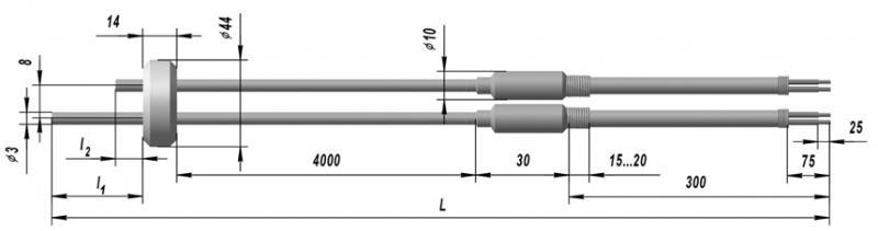 Кабельный линзовый преобразователь термоэлектрический ТХК 9901