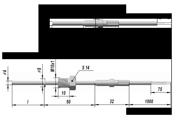 Термопреобразователь сопротивления платиновые ТСП 0301