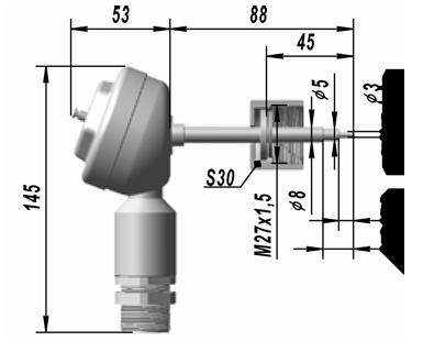 Термопреобразователь сопротивления платиновый ТСП 9511