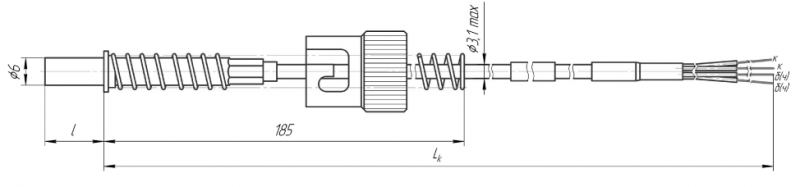 Термопреобразователь сопротивления платиновые ТСП 0908 и медные ТСМ 0908