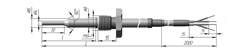Термопреобразователь сопротивления платиновые ТСП 0910