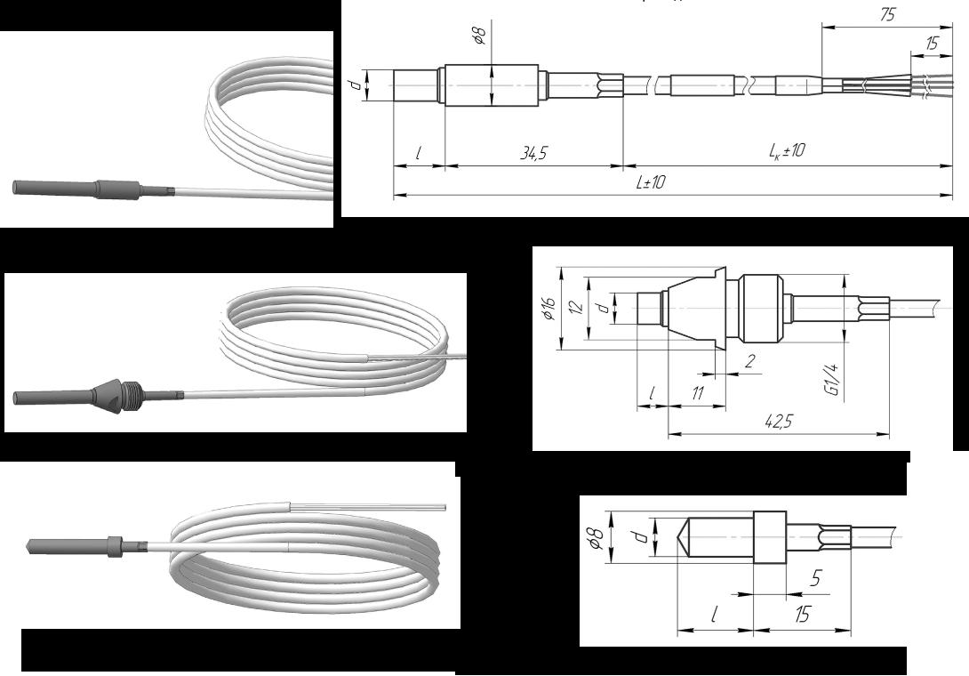 Термопреобразователь сопротивления платиновые ТСП 0915