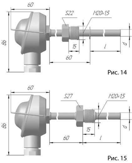 Термопреобразователь сопротивления платиновые ТСП 1107 и медные ТСМ 1107