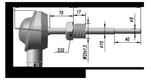 Термопреобразователь сопротивления платиновый ТСП 9307
