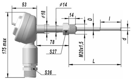 Термопреобразователь сопротивления взрывозащищенные ТСП 9418, ТСМ 9418